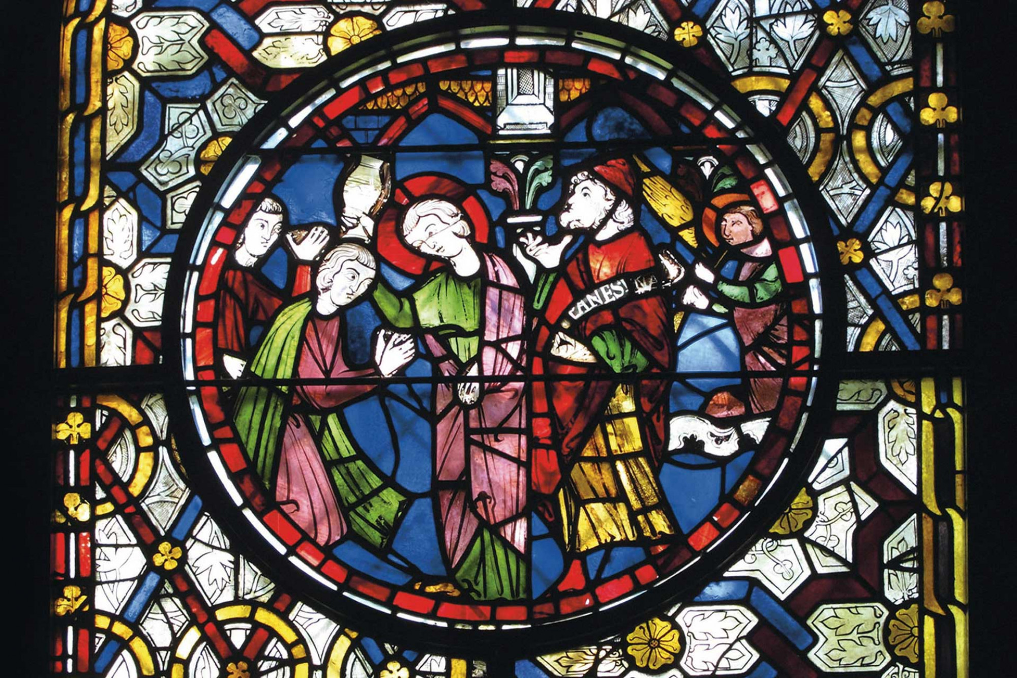 Stained glass from Canterbury Cathedral England