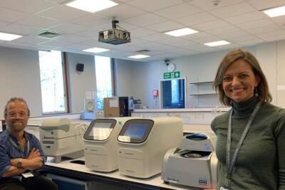 Dr Jill Shepherd and colleague in the School of Biosciences
