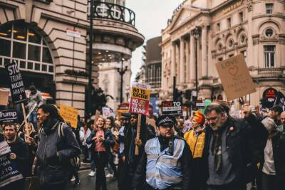 Peaceful anti-racist demonstration in London