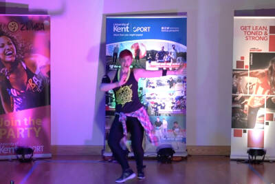 Zumba Toning class with Kent Sport Health and Fitness Manager Jenni
