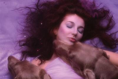 Kate Bush and two hounds of love