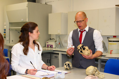 Dr Matt Skinner at work in the teaching lab