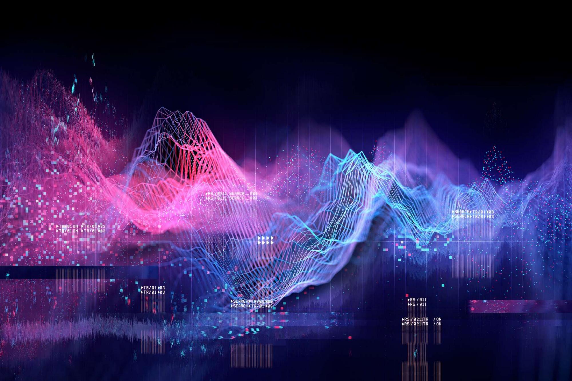 A colourful three dimensional histogram