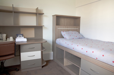Keynes College single bedroom