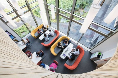 Overhead shot of Sibson breakout space