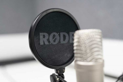 Close-up image of a microphone