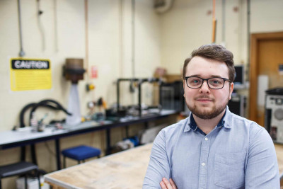 Joe Richmond Knight in a workshop