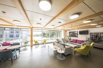 Reception social area in Turing College