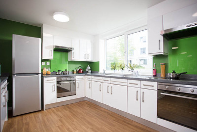 Kitchen area in Turing House accommodation