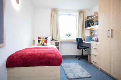 Woolf College single bedroom
