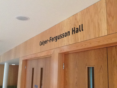 Colyer-Fergusson Hall sign